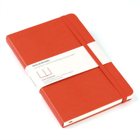 Moleskine Red Large Plain Notebook