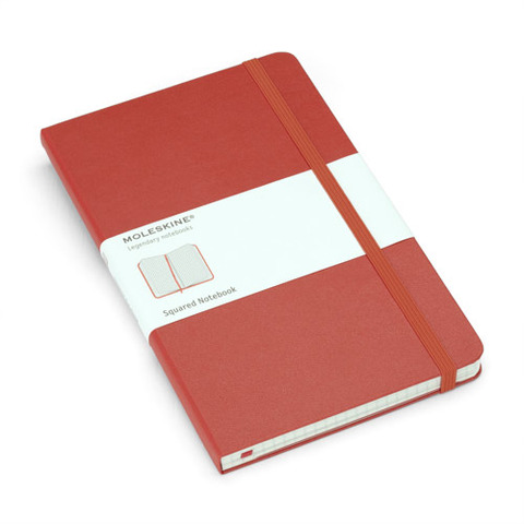 Moleskine Red Large Squared Notebook